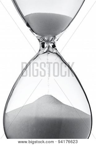 Hourglass Clock On White Background.