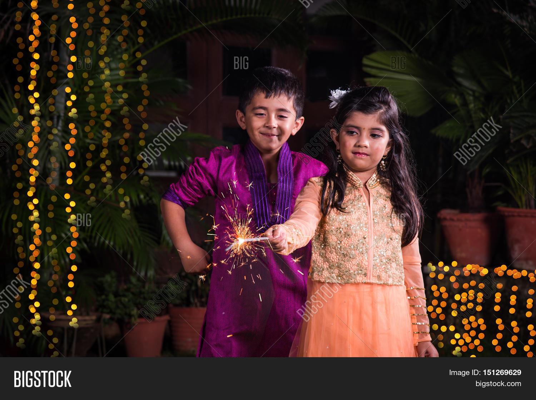 indian cute boy girl image & photo (free trial)   bigstock