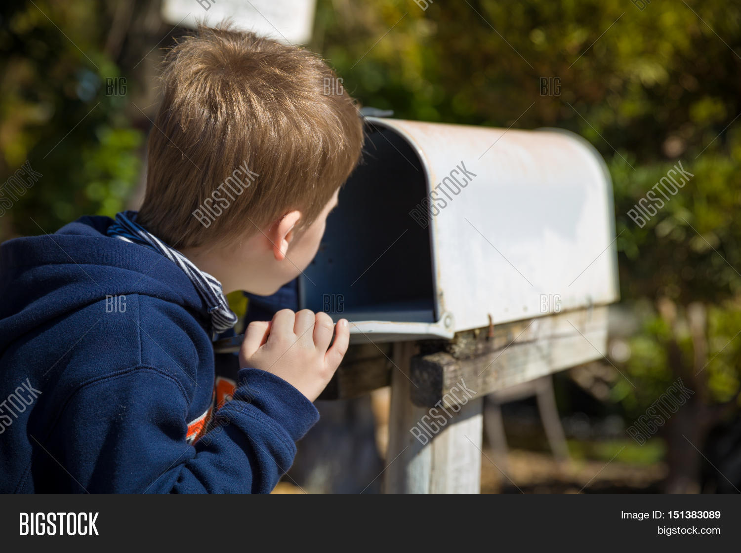 Waiting For Mail >> School Boy Opening Image Photo Free Trial Bigstock