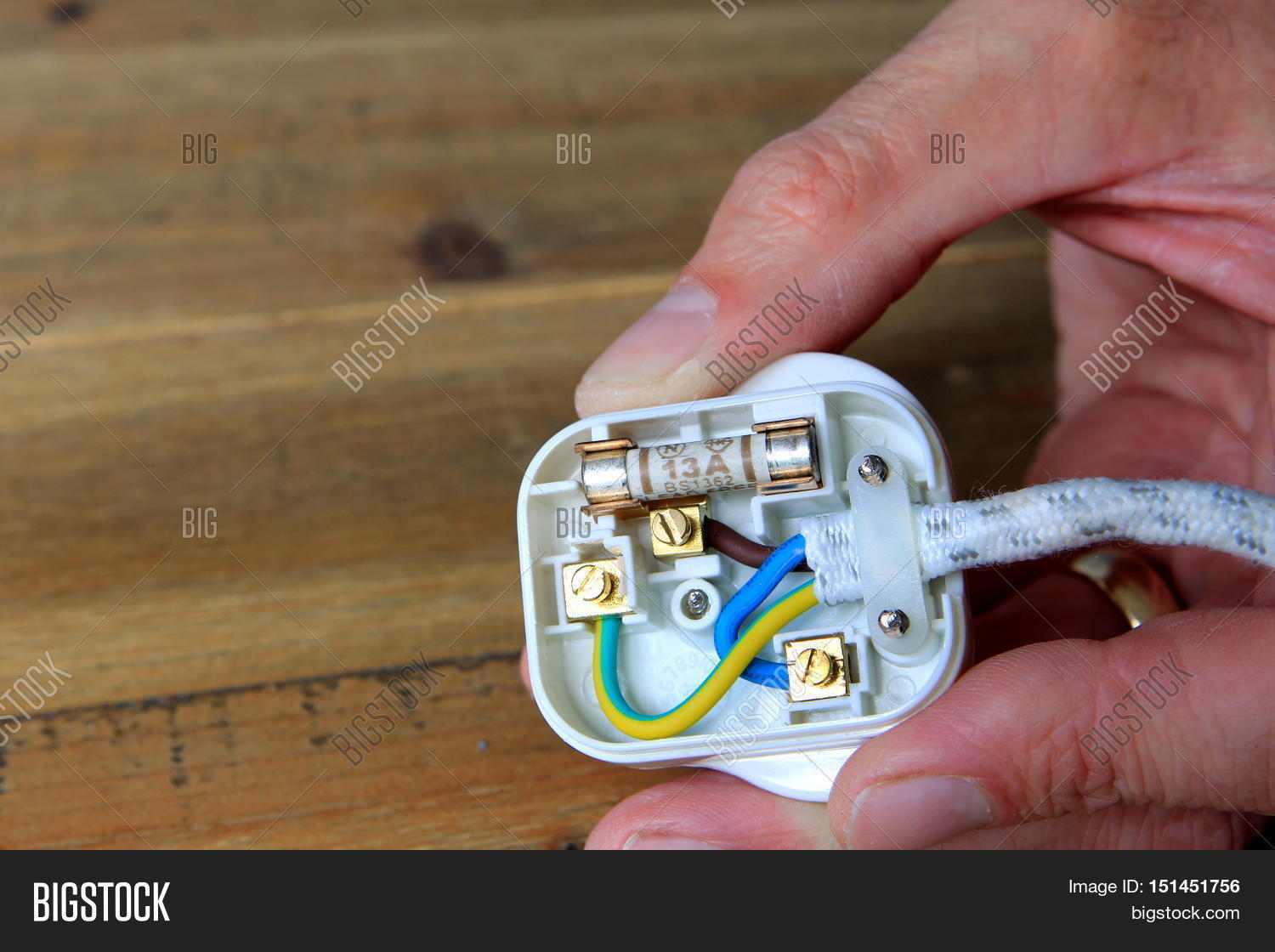 Uk 13 Amp Plug Back Image Photo Free Trial Bigstock Wiring Electrical Plugs With Taken Off To Change The Fuse