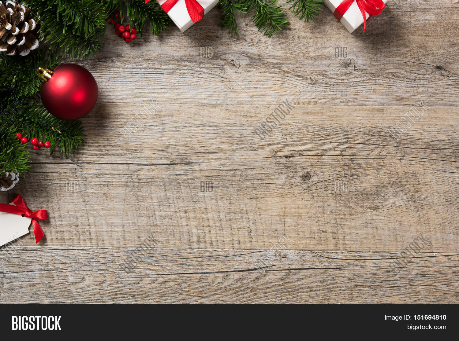 Christmas Top View.High Angle View Image Photo Free Trial Bigstock
