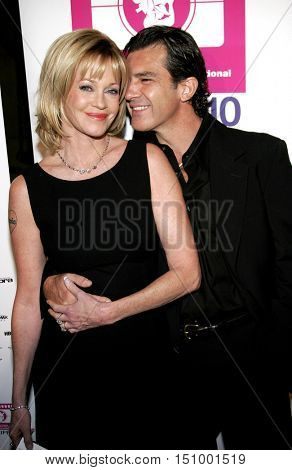 Melanie Griffith and Antonio Banderas at the LALIFF Gabi Award Gala Honoring Antonio Banderas held at the Egyptian Theatre in Hollywood, USA on October 14, 2006.