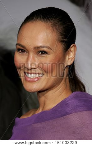 Tia Carrere at the World premiere of 'The Shaggy Dog' held at the El Capitan Theatre in Hollywood, USA on March 7, 2006.