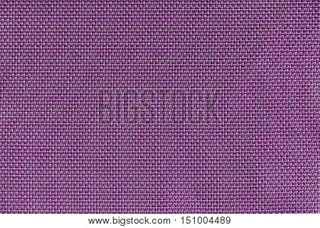 corrugated texture of rough fabric of lilac color with an interlacing of threads for a woven background and for wallpaper