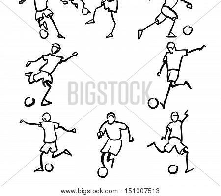 American Football Player Motion Sketch Studies