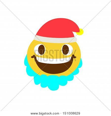 Good  face with a beard and wearing a hat on a white background. Vector illustration