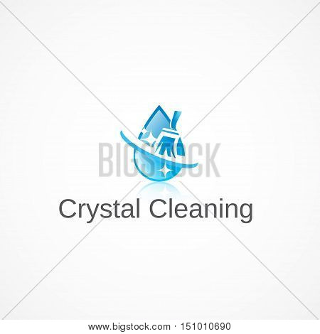 Logo on the theme of cleaning in the room.