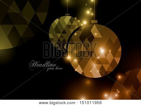 Vector of modern Christmas element and background