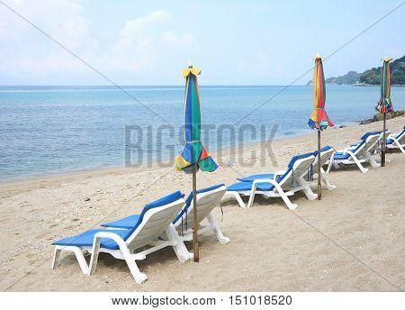 Beach Chair Phuket Andaman Sea Thailand