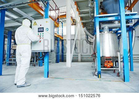 chemical industry worker at factory