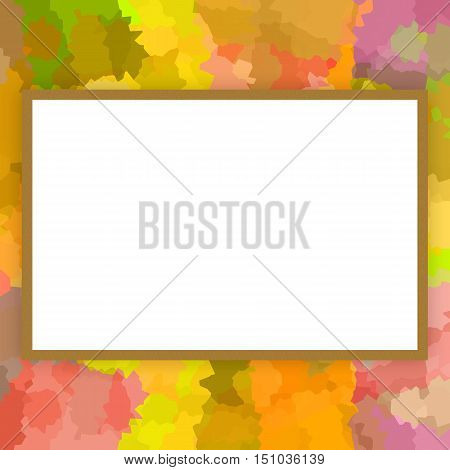 Colorful decorative picture or photo frame, bright design
