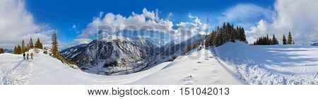 Mountains ski resort Kaprun Austria - nature and sport background