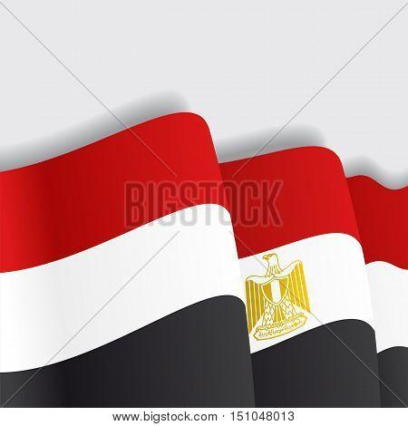 Egyptian waving Flag. Vector illustration Eps 8
