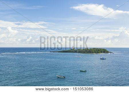 Islet of Le Gosier off Guadeloupe coast