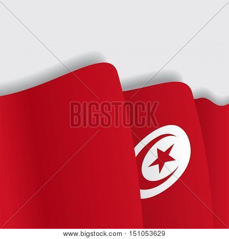 Tunisian waving Flag. Vector illustration Eps 8