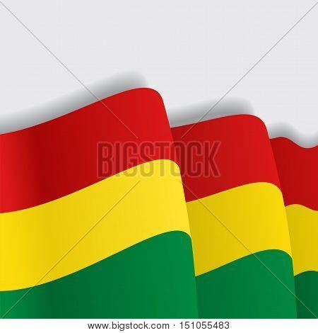 Bolivian waving Flag. Vector illustration Eps 8