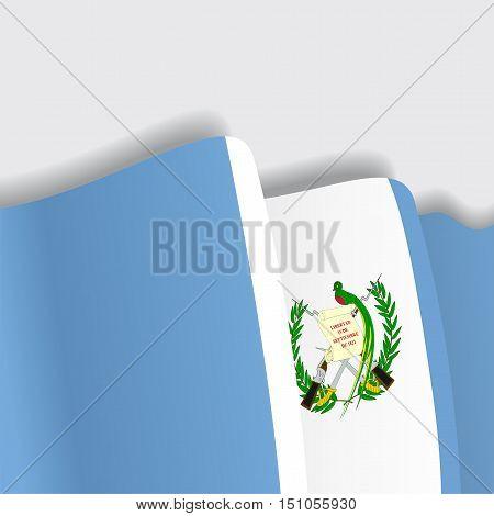 Guatemalan waving Flag. Vector illustration Eps 8