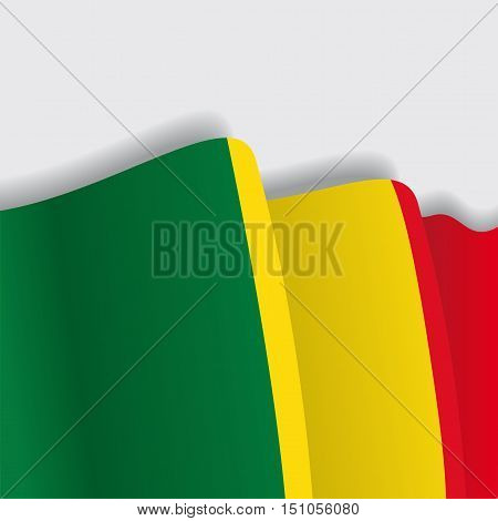 Malian waving Flag. Vector illustration Eps 8
