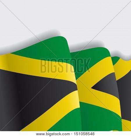 Jamaican waving Flag. Vector illustration Eps 8