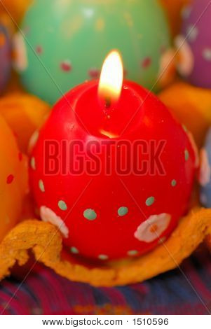 Red Egg Candle