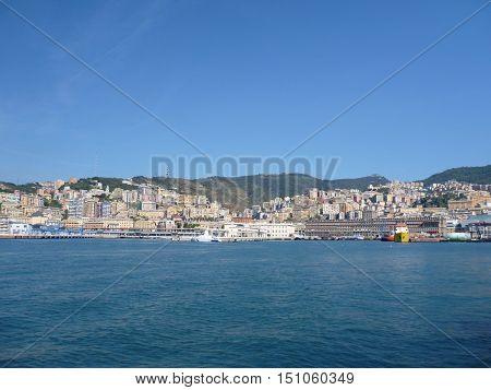 Big Port In Genova City
