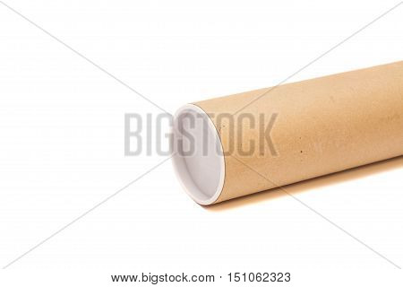 Carton tube Isolated on a white background
