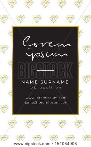 Business card with gold detail