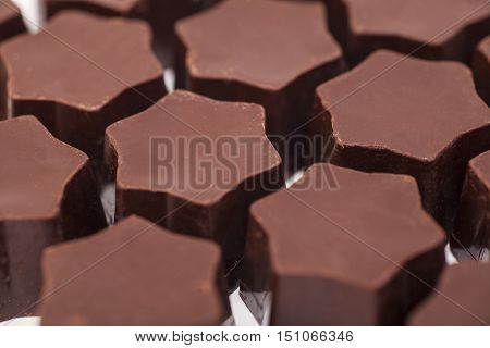gourmet chocolate candy bonbons close up .
