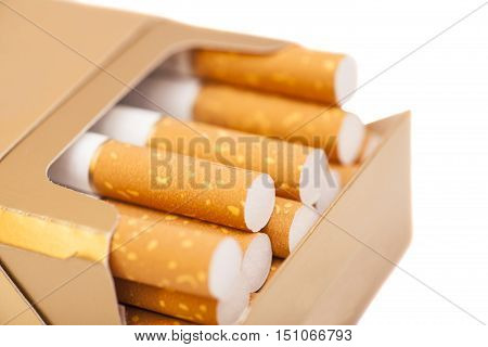 Box of cigarettes, isolated on a white