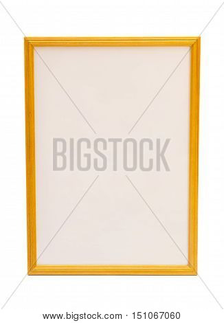 Golden frame on a white background .