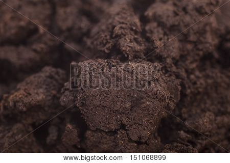 Close up of organic soil background .
