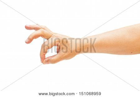 man's hand gesturing - showing sign ok (okay)