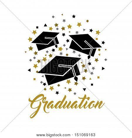 congratulations grad celebration card vector illustration design