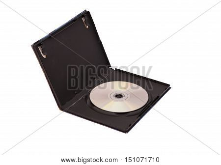 Blank dvd with black case on a white background