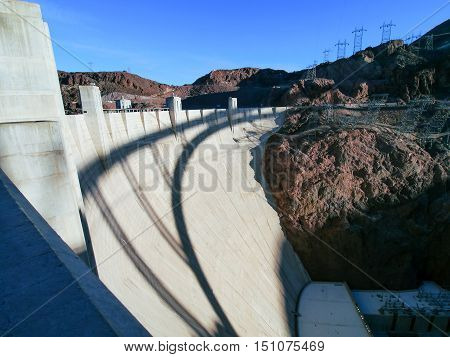 Hoover Dam in United States of America.