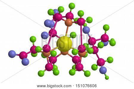 Molecular structure of Gadobutrol (Gadovist) - gadolinium containing MRI contrast agent 3D rendering poster