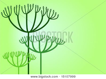 Herb background in soft tones