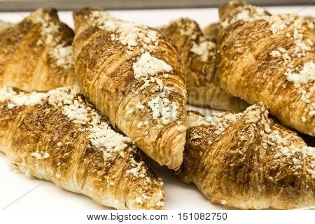 Tray Of Freshly Baked Gluten Free Croissant
