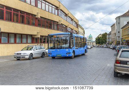 BUDAPEST, HUNGARY - SEPTEMBER 18: Public transport in Budapest, on September 18, 2016 in Budapest, Hungary.