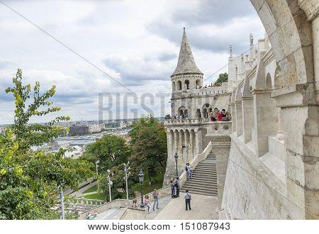 BUDAPEST, HUNGARY - SEPTEMBER 18: Fishermen's Bastion in Budapest, on September 18, 2016 in Budapest, Hungary.
