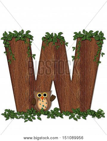 Alphabet Deep Woods Owl W