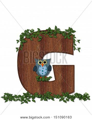 Alphabet Deep Woods Owl G