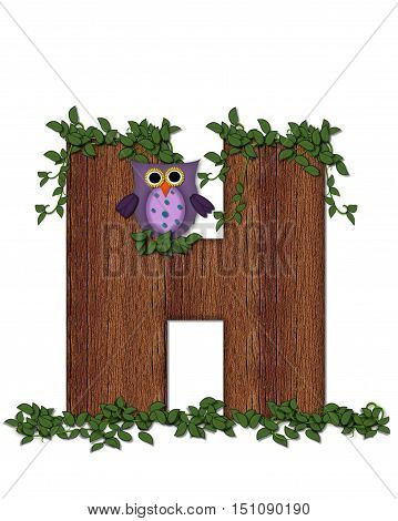 Alphabet Deep Woods Owl H