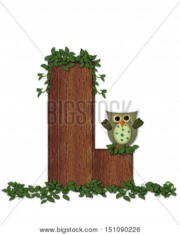 Alphabet Deep Woods Owl L
