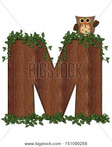 Alphabet Deep Woods Owl M