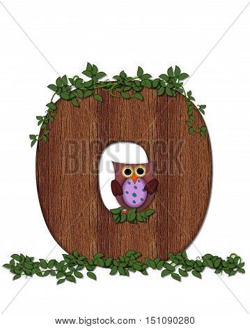 Alphabet Deep Woods Owl O