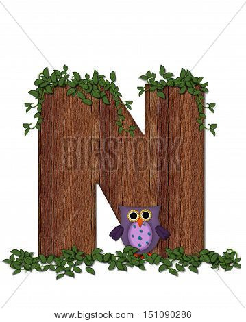 Alphabet Deep Woods Owl N