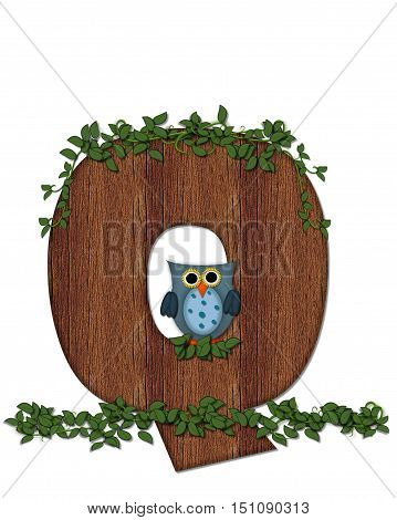 Alphabet Deep Woods Owl Q