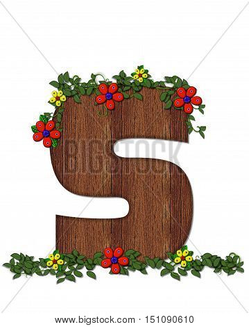 Alphabet Woodland Flowers S