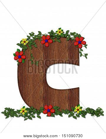 Alphabet Woodland Flowers C